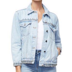 Good American Studded Boyfriend Jacket NEW $208